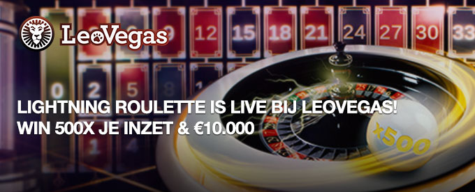 Lightning Roulette is live bij LeoVegas!