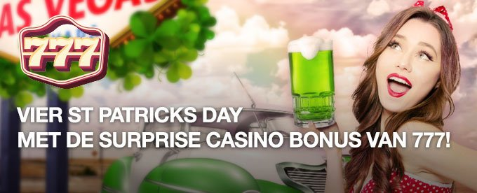Vier St Patricks Day met de surprise casino bonus van 777